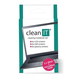 Clean IT roztok na notebooky s utěrkou, 2x30ml (CL-182)